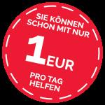 Sie können schon mit einem EURO pro Tag helfen
